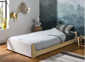 Lit enfant 90x190 KALIX - Blanc/Bois Nateo Concept - 2