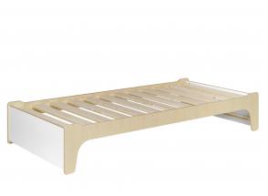 Lit enfant 90x190 KALIX - Blanc/Bois Nateo Concept - 5