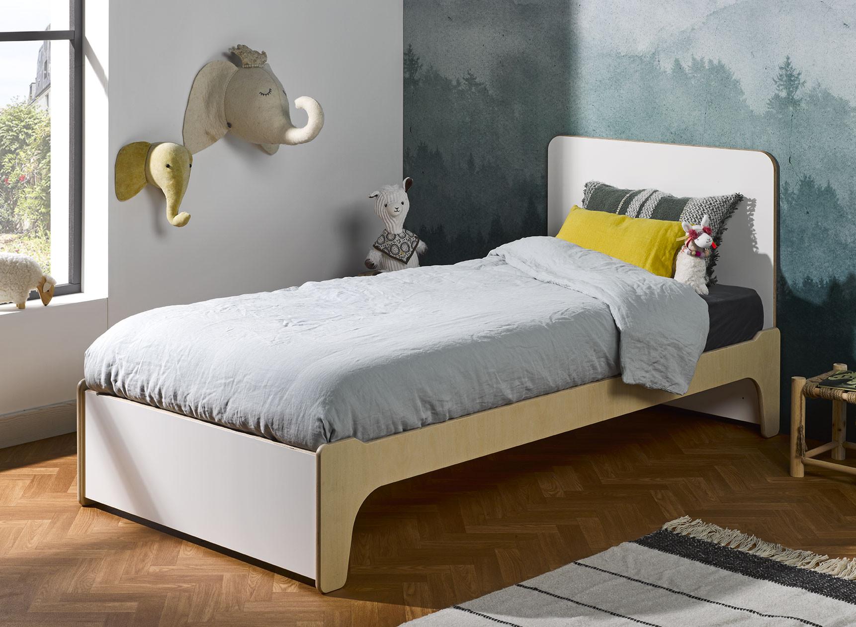 Lit enfant 90x190 avec tête de lit KALIX Nateo Concept - 1