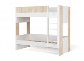 Lit superposé 90x190 BONDI - Blanc/Bois  - 3
