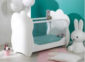 Lit bébé plexiglas CLOUD – Blanc Nateo Concept - 1
