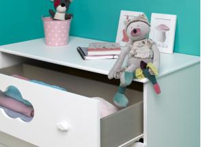 Commode 3 tiroirs CLOUD – Blanc Nateo Concept - 2