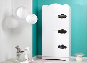 Armoire 2 portes CLOUD – Blanc Nateo Concept - 1