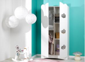 Armoire 2 portes CLOUD – Blanc Nateo Concept - 2