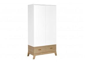 Armoire 2 portes 1 tiroir EKKO – Blanc/Chêne Nateo Concept - 4