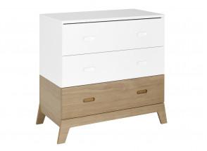 Commode 3 tiroirs EKKO – Blanc/Chêne Nateo Concept - 4