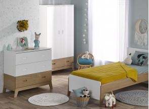 Commode 3 tiroirs EKKO – Blanc/Chêne Nateo Concept - 3