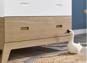 Commode 3 tiroirs EKKO – Blanc/Chêne Nateo Concept - 2