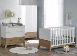 Lit bébé évolutif EKKO – Blanc/Chêne Nateo Concept - 3