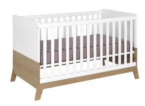 Lit bébé évolutif EKKO – Blanc/Chêne Nateo Concept - 6