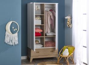 Chambre bébé complète EKKO - Blanc/Chêne  - 3