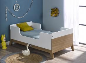 Chambre bébé complète EKKO - Blanc/Chêne  - 6