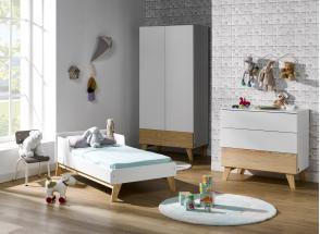 Commode 3 tiroirs HAXO – Blanc/Pin Nateo Concept - 3