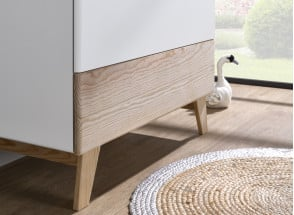 Commode 3 tiroirs HAXO – Blanc/Pin Nateo Concept - 2
