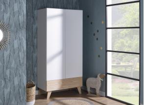 Chambre bébé complète HAXO - Blanc/Pin  - 3