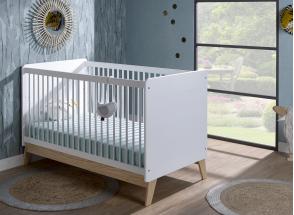Chambre bébé complète HAXO - Blanc/Pin  - 6