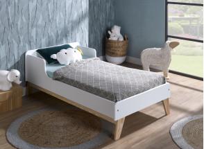 Chambre bébé complète HAXO - Blanc/Pin  - 7