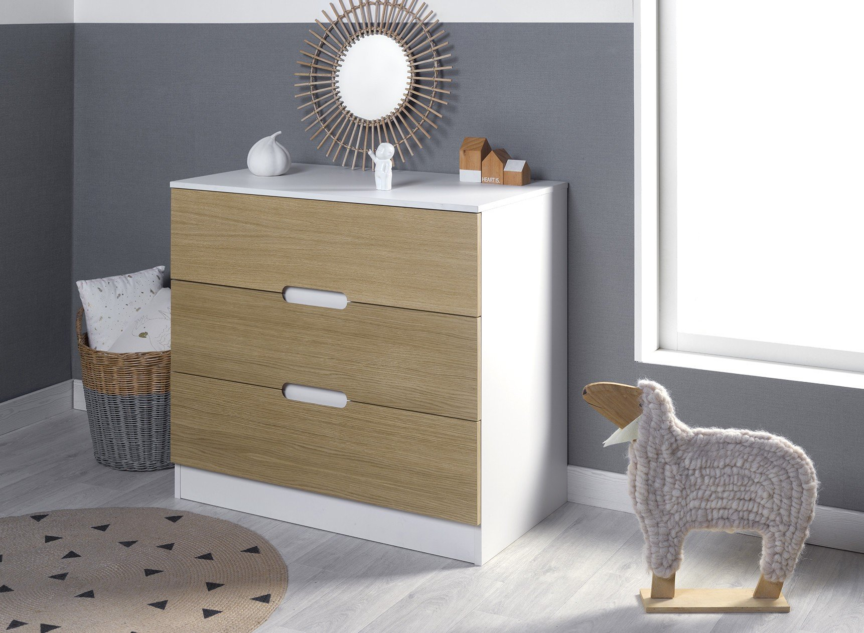 Commode 3 tiroirs MANLY Nateo Concept - 4