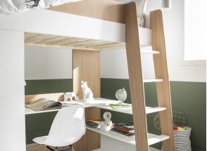 Lit mezzanine avec bureau et armoire MANLY Nateo Concept - 9