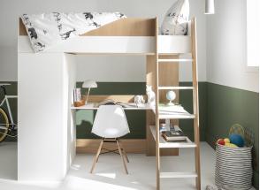 Lit mezzanine avec bureau et armoire MANLY Nateo Concept - 7