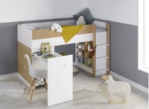 Lit mi-hauteur avec bureau et commode MANLY Nateo Concept - 8