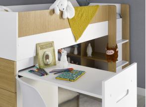 Lit mi-hauteur avec bureau et commode MANLY Nateo Concept - 9