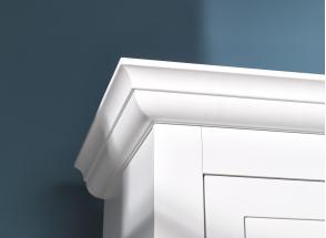 Armoire 2 portes 2 tiroirs SPARTE – Blanc Nateo Concept - 3