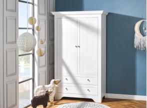 Armoire 2 portes 2 tiroirs SPARTE – Blanc Nateo Concept - 1