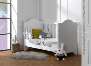 Lit bébé évolutif SPARTE – Blanc Nateo Concept - 2