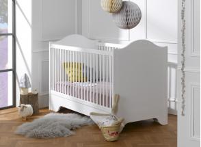 Lit bébé évolutif SPARTE – Blanc Nateo Concept - 1