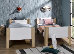 Lit enfant 90x190 SYMI – Blanc/Bouleau Nateo Concept - 2
