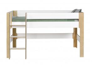 Lit mi-hauteur 90x190 SYMI – Blanc/Bouleau Nateo Concept - 4