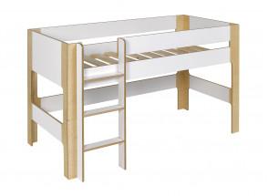 Lit mi-hauteur 90x190 SYMI – Blanc/Bouleau Nateo Concept - 6