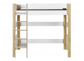 Lit mezzanine 90x190 SYMI – Blanc/Bouleau Nateo Concept - 4
