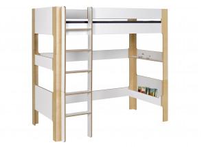 Lit mezzanine 90x190 SYMI – Blanc/Bouleau Nateo Concept - 3