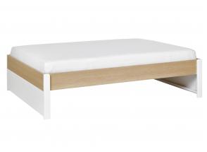 Lit 2 places 140x200 PRADO – Blanc/Chêne Nateo Concept - 3