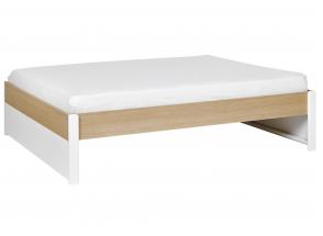 Lit 2 places 160x200 PRADO – Blanc/Chêne Nateo Concept - 2